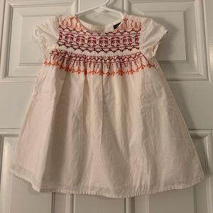 Baby Gap boho embroidered tunic dress 3-6m